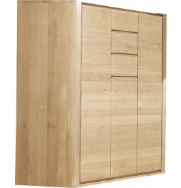 Meuble de rangement chêne naturel 3 portes 3 tiroirs