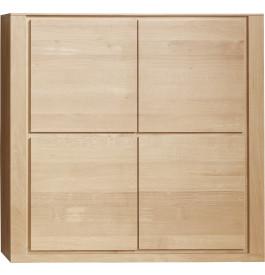 Meuble de rangement chêne naturel 4 portes