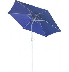 Parasol aluminium et toile bleu Ø250
