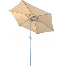 Parasol aluminium et toile écru Ø250