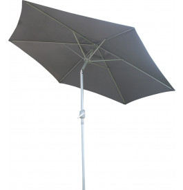 Parasol aluminium et toile grise Ø250