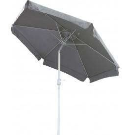 Parasol aluminium et toile grise avec volants Ø250