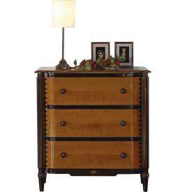 petite commode merisier massif laqu noir 3 tiroirs. Black Bedroom Furniture Sets. Home Design Ideas