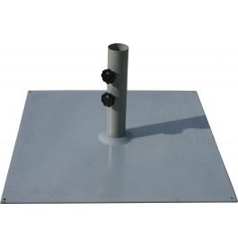 Pied de parasol carré acier gris 16kg