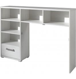 t te de lit blanc 1 tiroir 5 niches sophie. Black Bedroom Furniture Sets. Home Design Ideas