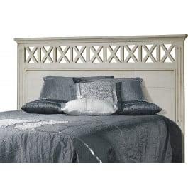 t te de lit ch ne blanc pour lit 140 d cors croisillons. Black Bedroom Furniture Sets. Home Design Ideas