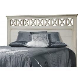 Tête de lit blanc pour lit 180 décors croisillons