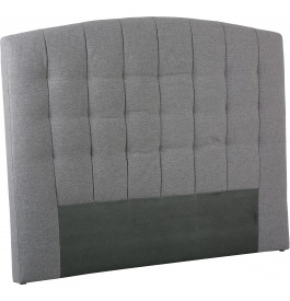 Tête de lit capitonnée tissu chiné gris pour lit 140