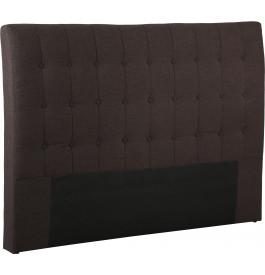 Tête de lit capitonnée tissu chiné prune pour lit 140