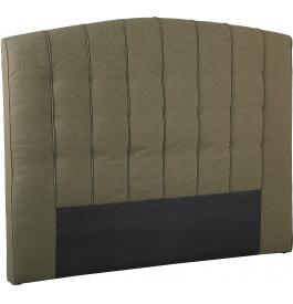 Tête de lit capitonnée tissu chiné taupe pour lit 140