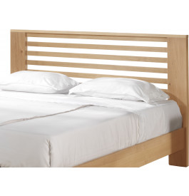 Tête de lit chêne naturel décors ajourés pour lit 140