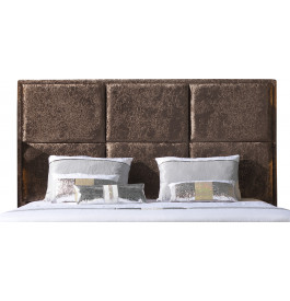 t te de lit toff e velours chocolat pour lit 140. Black Bedroom Furniture Sets. Home Design Ideas
