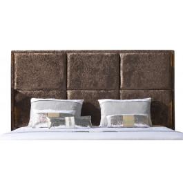 Tête de lit étoffée velours chocolat pour lit 180