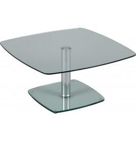 Table basse carrée hauteur réglable verre