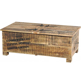 Table basse coffre industrielle acacia m tal - Table basse en acacia ...