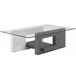 Basse Anthracite Verre Laque Design Plateau Table Gris Blanc Et 0XPnOk8w