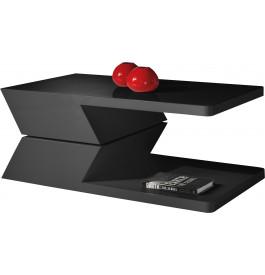 Table basse design laque noire plateau pivotant
