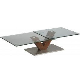 table basse design en verre pivotant
