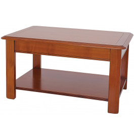 Table basse merisier extensible double plateau