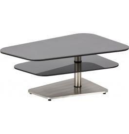 Fumé Basse Acier Plateau Mat Gris Table Noir Verre Modulable Tl5F1cKu3J