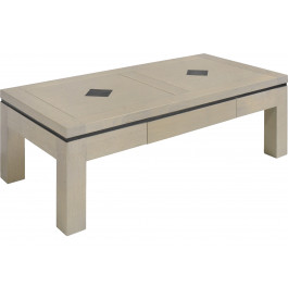table basse rectangulaire ch ne massif taupe 1 tiroir d cors ardoise. Black Bedroom Furniture Sets. Home Design Ideas