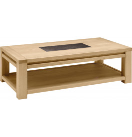 Table basse rectangulaire ch ne naturel c ramique - Table basse chene naturel ...