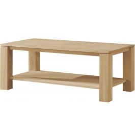 Table basse rectangulaire double plateau chêne naturel