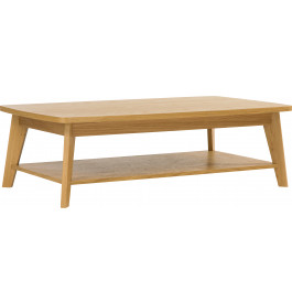 Table basse scandinave chêne naturel double plateau