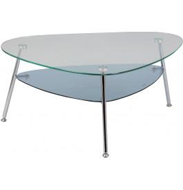 Table basse verre trempé double plateau