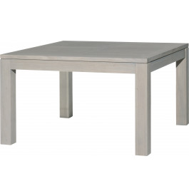 table carr e ambre ch ne massif gris argent l130 2 allonges papillons. Black Bedroom Furniture Sets. Home Design Ideas