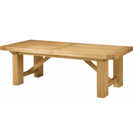 Table chêne massif rectangulaire ouverture simultanée