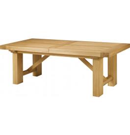 Table chêne massif tonneau ouverture simultanée