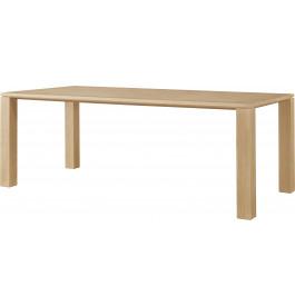 Table chêne naturel rectangulaire L200