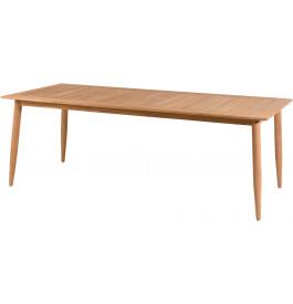 Table de jardin rectangulaire teck naturel L220