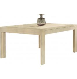 Table de séjour carrée chêne blanchi L130