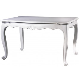 table de s jour rectangulaire h tre laque blanc l140 pieds galb s. Black Bedroom Furniture Sets. Home Design Ideas