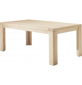 Table à manger rectangulaire chêne blanchi 1 allonge L200