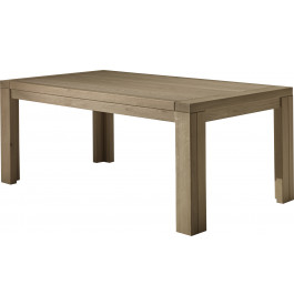 Table à manger rectangulaire chêne taupe 1 allonge L200