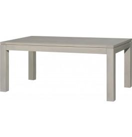 Table rectangulaire AMBRE chêne massif gris argent L180 2 allonges papillons