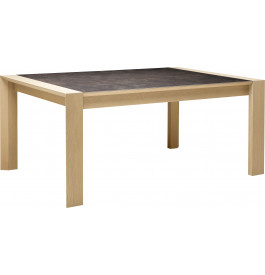 Table rectangulaire céramique chêne naturel 2 allonges L180
