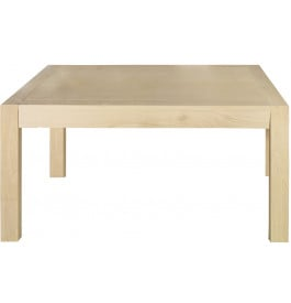 Table rectangulaire chêne blanchi 2 allonges L180