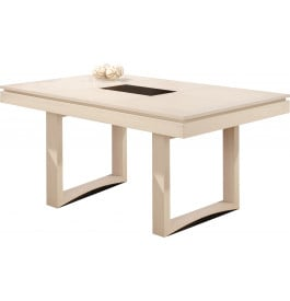 table rectangulaire ch ne blanc pierre l200 2 allonges papillons. Black Bedroom Furniture Sets. Home Design Ideas