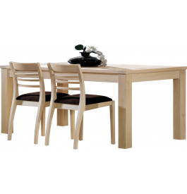table rectangulaire ch ne massif naturel l180 1 allonge papillon. Black Bedroom Furniture Sets. Home Design Ideas