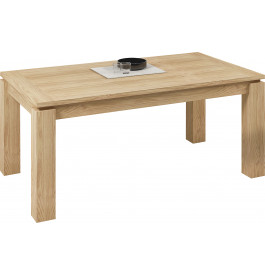 Table rectangulaire chêne naturel 1 allonge L160