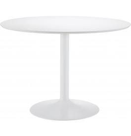 Table ronde laque blanche Ø110