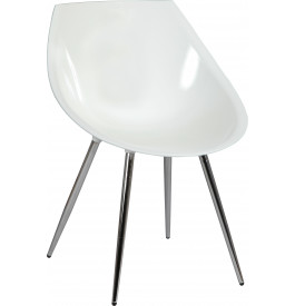 Chaise design coque blanche (x2)