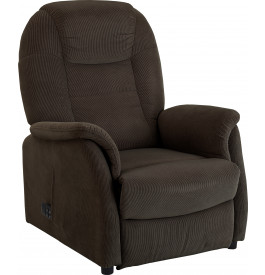 Fauteuil relaxation / releveur assise basse tissu velours gris foncé