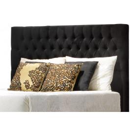 Tête de lit capitonnée noir pour lit 160