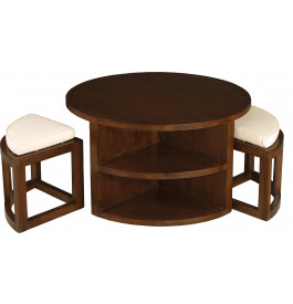 Ronde 2 Niches Mindi 90cm Tabourets Table 4 Basse 8wNnPXO0k
