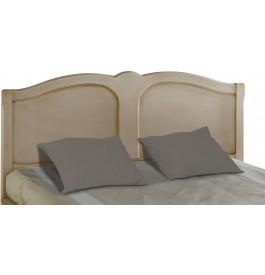 Tête de lit tilleul massif laque lin pour lit 140